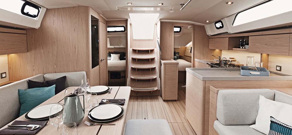 intérieur confort du voilier