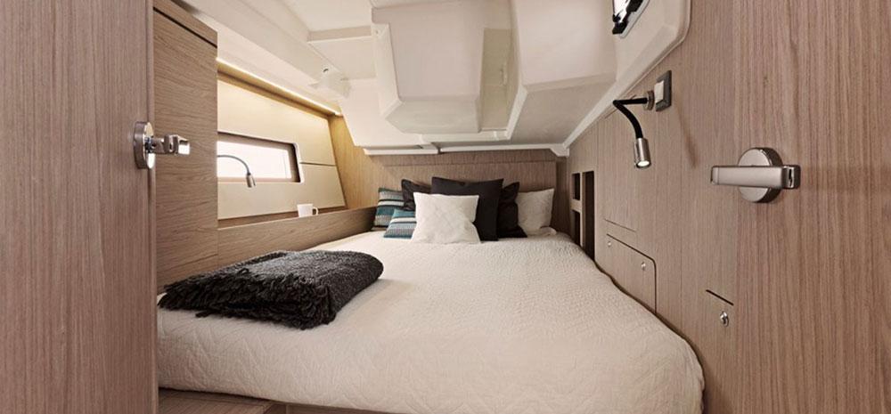 intérieur du voilier, partie chambre