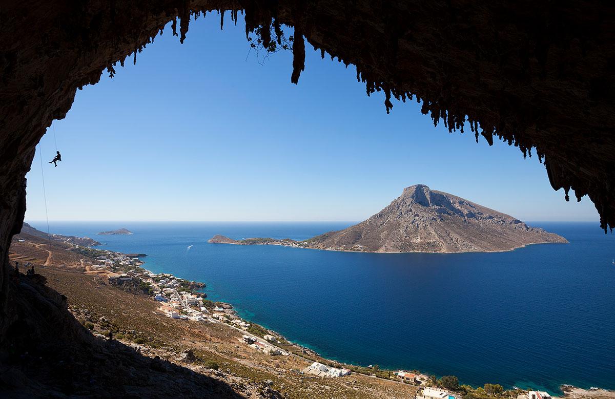 Paysage grotte et collines